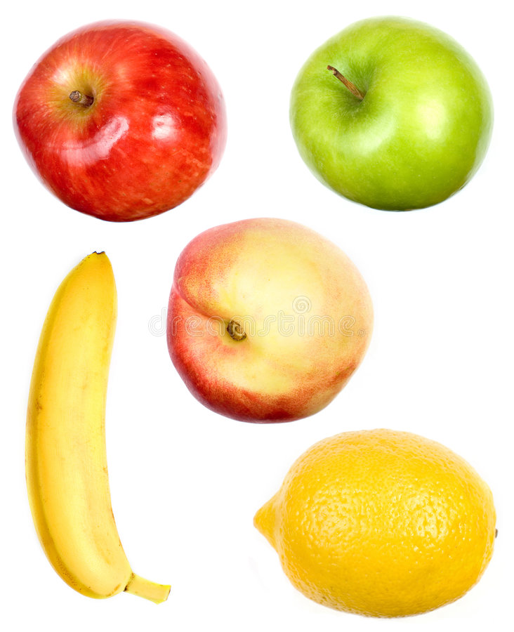 Free A Set Of Fruits On White Royalty Free Stock Images - 5669209