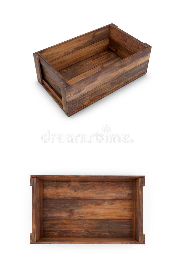 Free A Set Of Wooden Boxes On A White Background. Stock Photo - 90550600