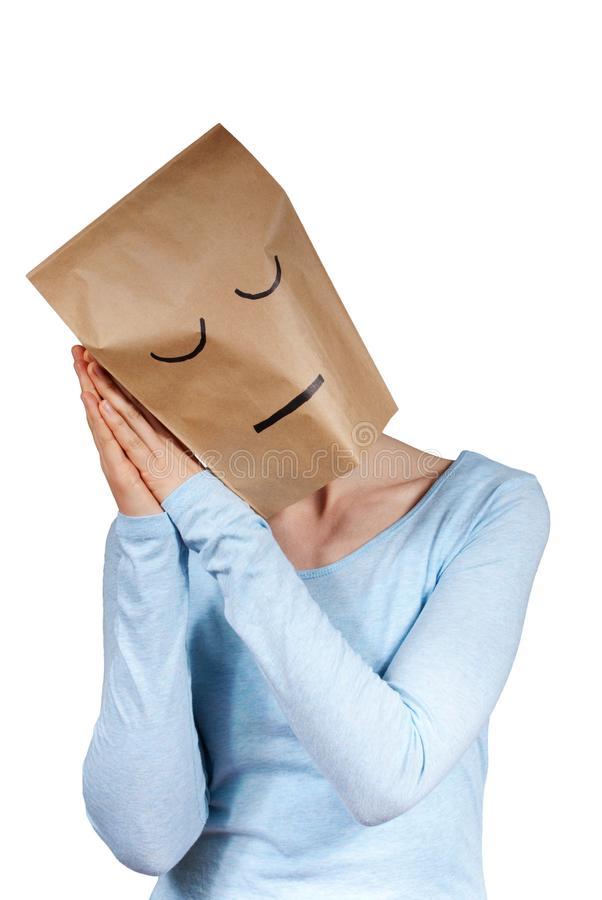 Free A Sleeping Paper Bag Head Stock Images - 30565404