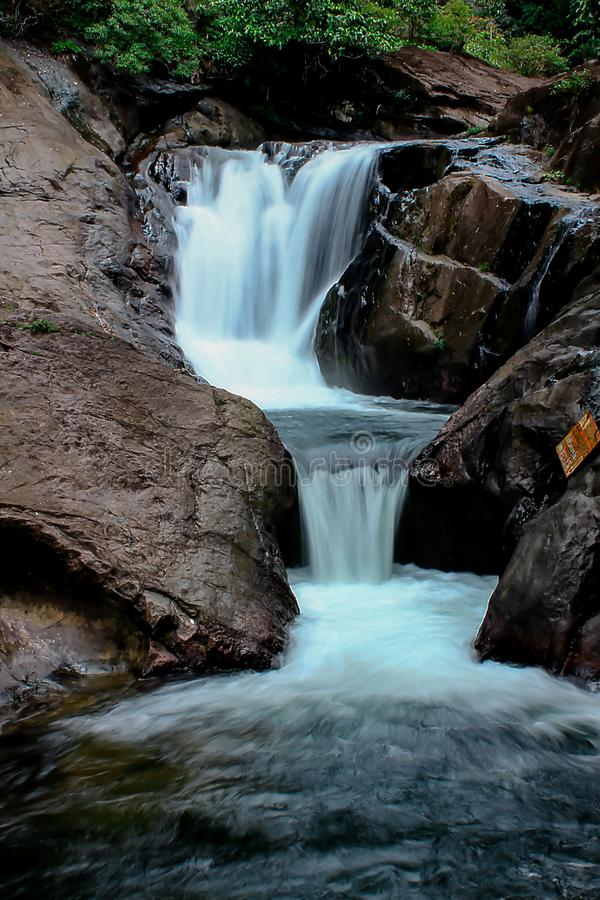 Free A Small Waterfall In Nature. Stock Photos - 119974973