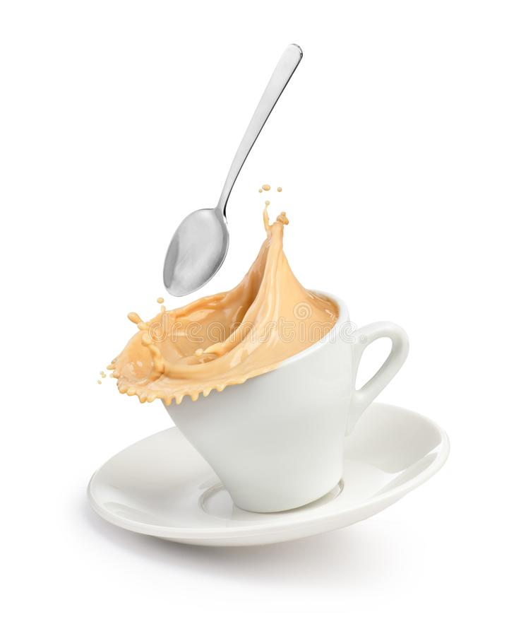 Free A Splash Of Coffee With Milk In A Cup Royalty Free Stock Photography - 156627087