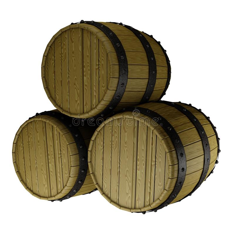 Free A Stack Of Three Barrels Stock Images - 21327764