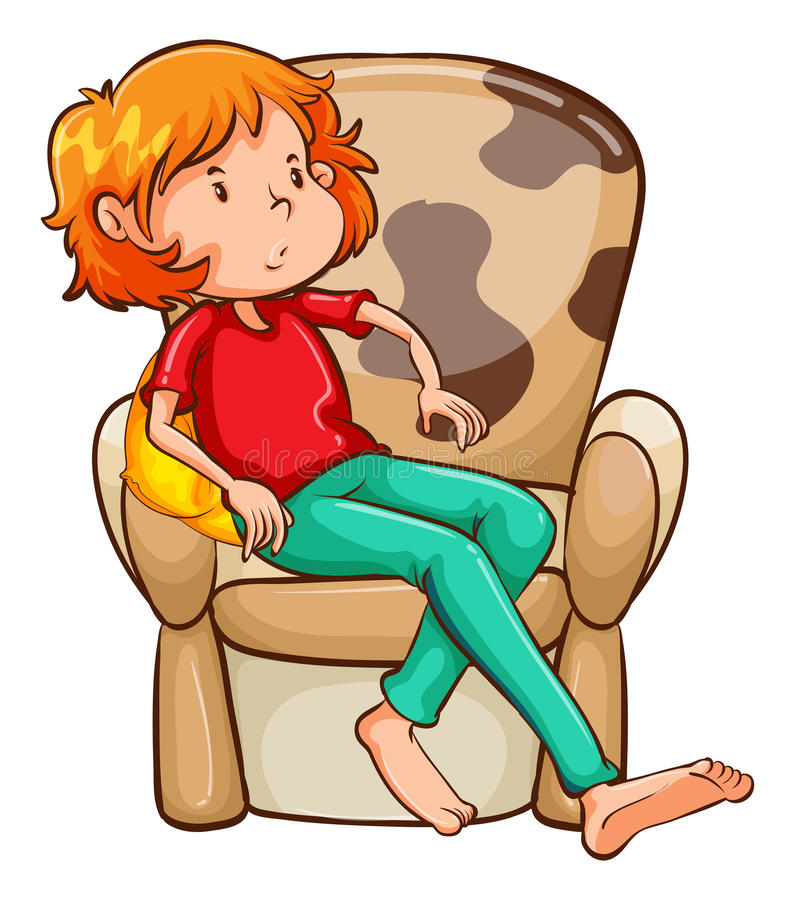 Free A Tired Girl At The Chair Stock Photos - 45603533