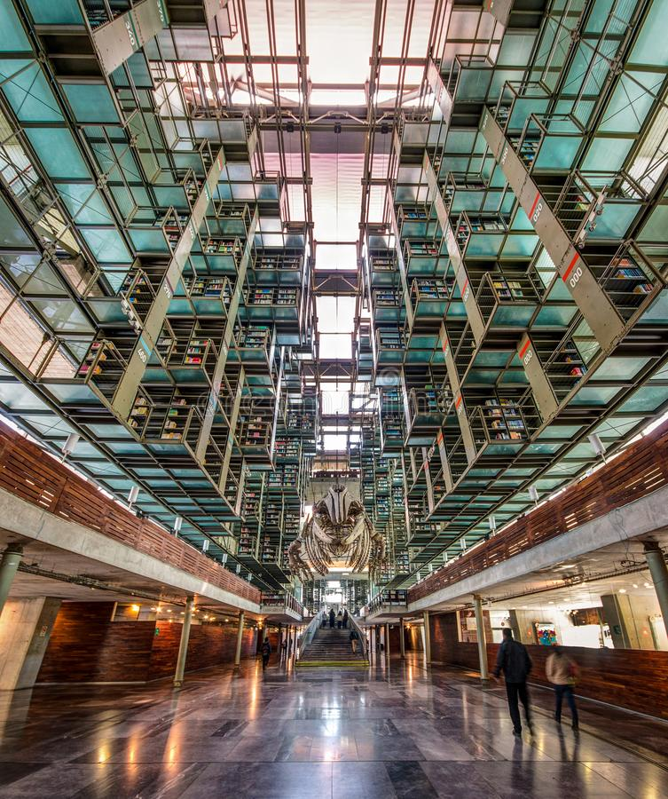 Free A View Of The Inside Of The Biblioteca Vasconcelos Library In Mexico City Stock Image - 113379071
