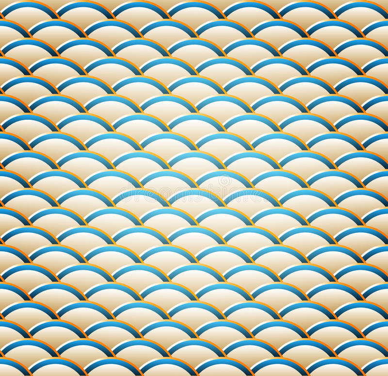 Free A Wavy Seamless Pattern Royalty Free Stock Image - 18606216