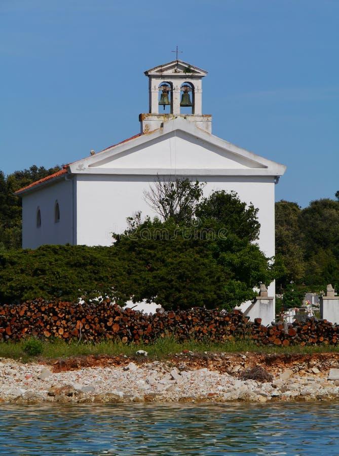 Free A White Church On The Graveyard Of Olib In Croatia Royalty Free Stock Photo - 47897045