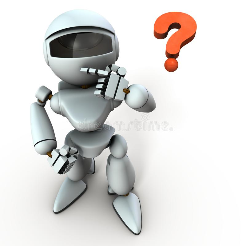 Free A White Robot That Looks At Me With Interest. Royalty Free Stock Images - 157948809