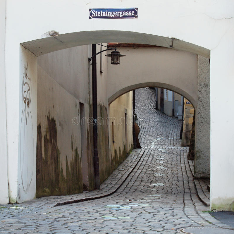 Free A Winding Cobbled Lane In The Old Town Stock Image - 26825031