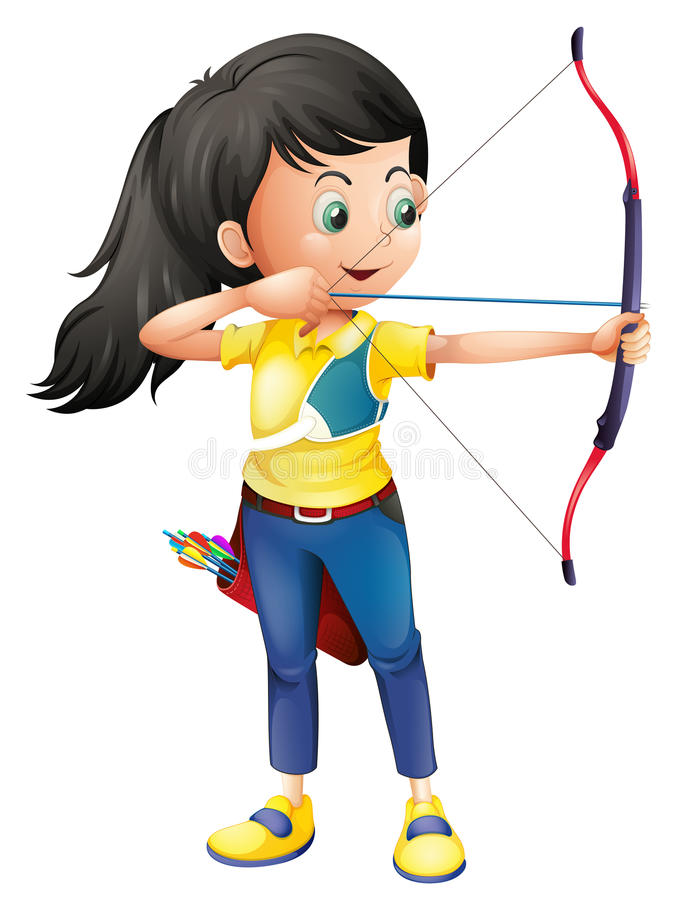 Free A Young Girl Playing Archery Stock Photos - 38629273