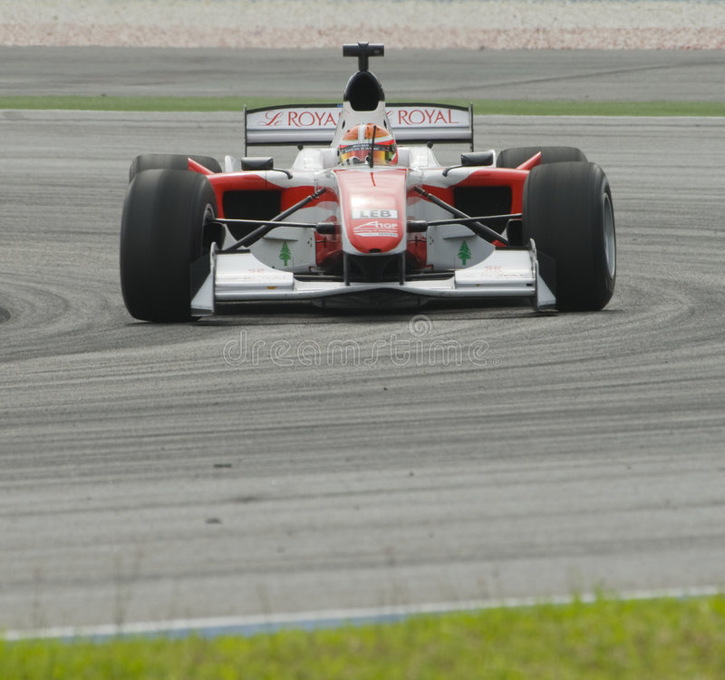 a1 Daniel kierowcy Lebanon morad drużyna zdjęcie stock