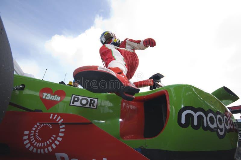 A1 driver Filipe Albuquerque of A1 Team Portugal royalty free stock photo