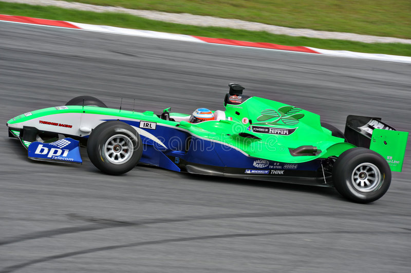 A1 GP RACE CAR. France a1 gp race car on track at A1 Grand Prix in Sepang Malaysia royalty free stock photos