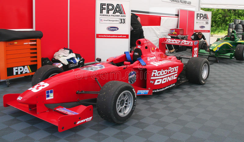 A1 Grand Prix cars. At the paddock in Brands Hatch circuit - Formula Palmer Audi series on May 5th, 2009 royalty free stock images