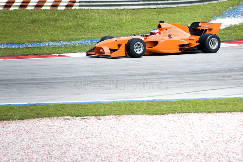 A1 Grand Prix Racing. A1 Grand Prix race car in action stock photo