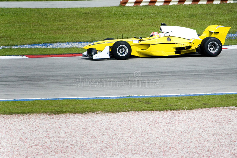 A1 Grand Prix Racing. A1 Grand Prix race car in action stock images
