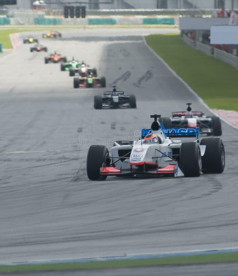 A1 Teams die bij het begin van A1GP ras rennen. royalty-vrije stock foto