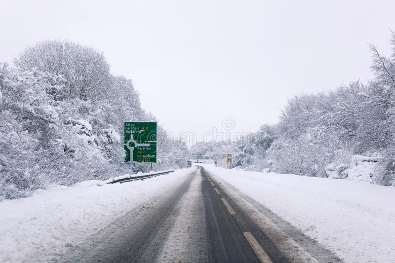 a31 καλυμμένο χιόνι στοκ εικόνες