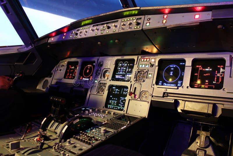 a320驾驶舱 库存照片