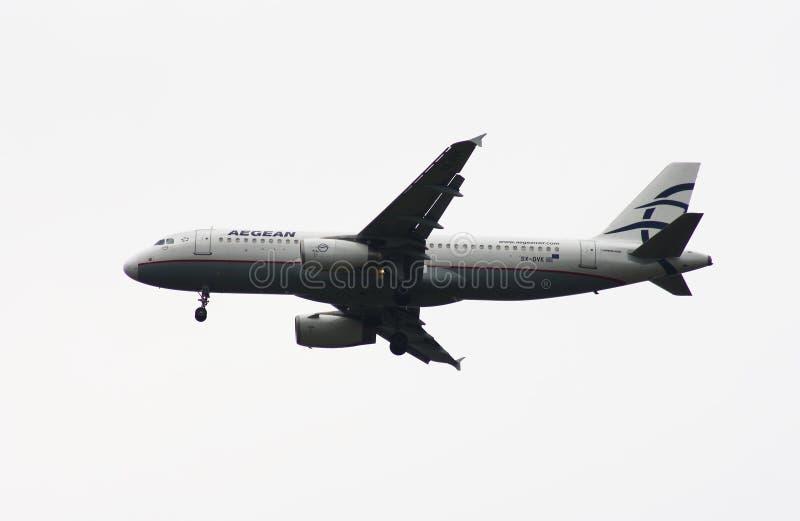 a320 αιγαίες αερογραμμές airbus στοκ εικόνα με δικαίωμα ελεύθερης χρήσης