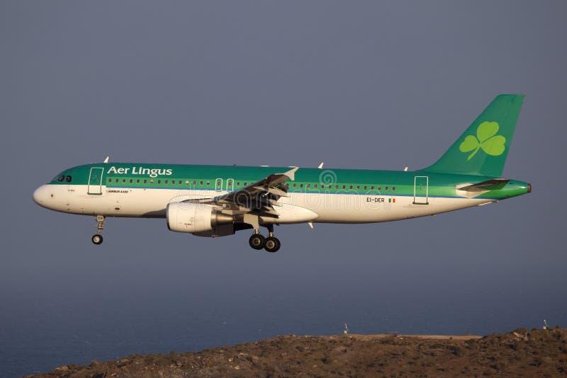 a320 aer Airbus lingus fotografia stock