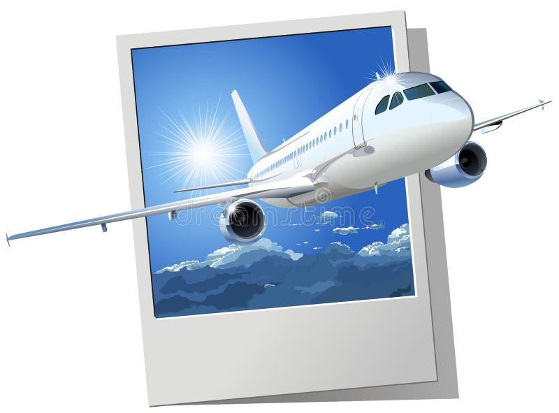 a320 Airbus pasażera wektor royalty ilustracja
