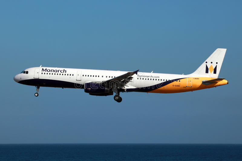 a321 monarcha Airbus obraz royalty free