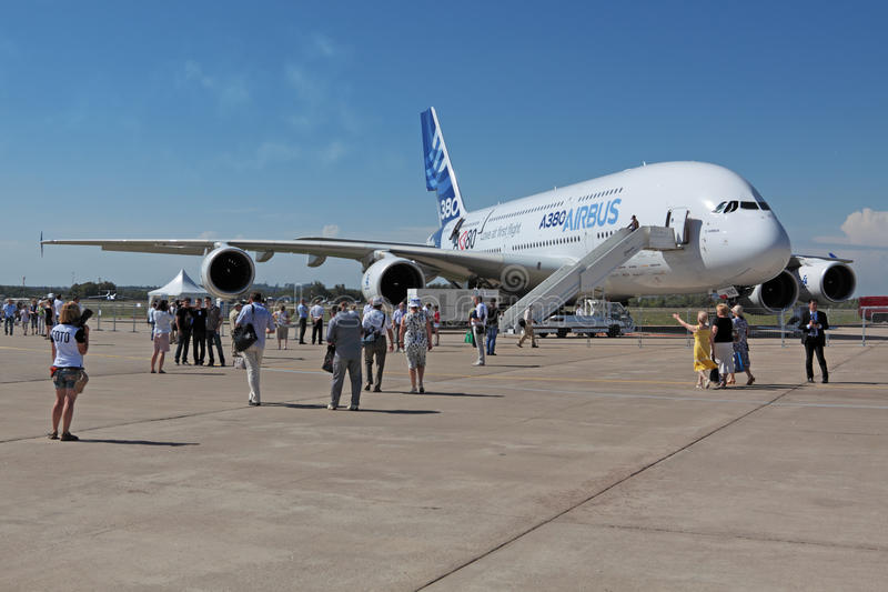 Download A380 editorial image. Image of people, airbus, exhibition - 22459275