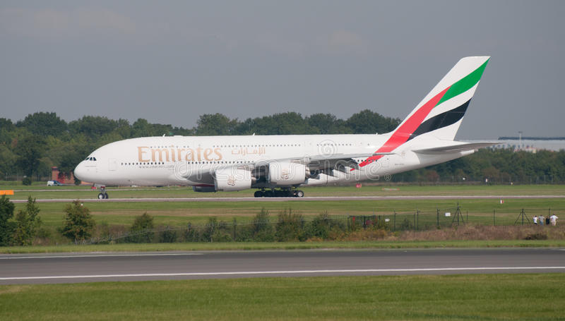 Download A380 Airbus Manchester editorial stock photo. Image of voyage - 15860303