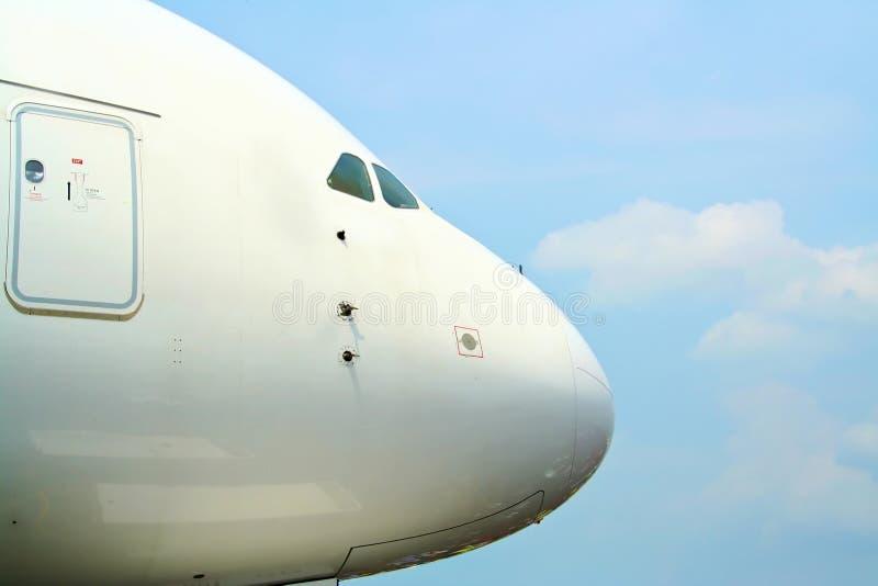 a380 Airbus nos obraz royalty free