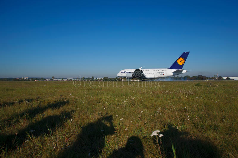 A380 First Time In Prague Editorial Photo