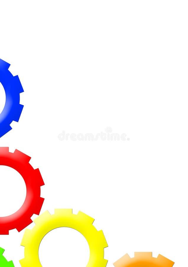 a4大色的差速器传动齿轮格式轮子 向量例证