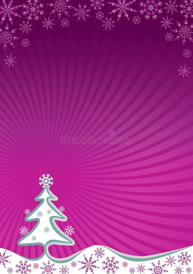 a4背景圣诞树 库存例证