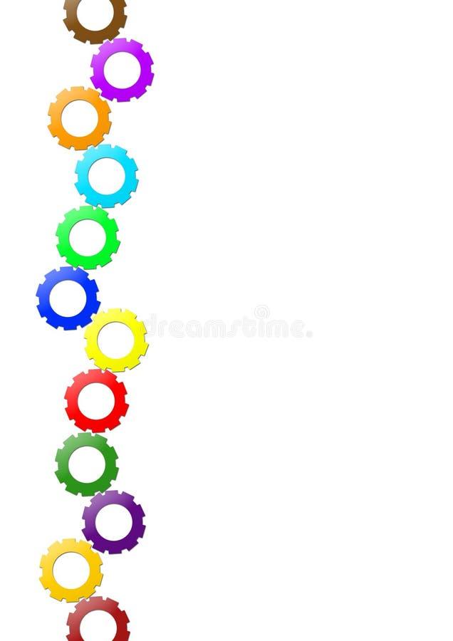a4色的差速器传动齿轮格式小的轮子 向量例证