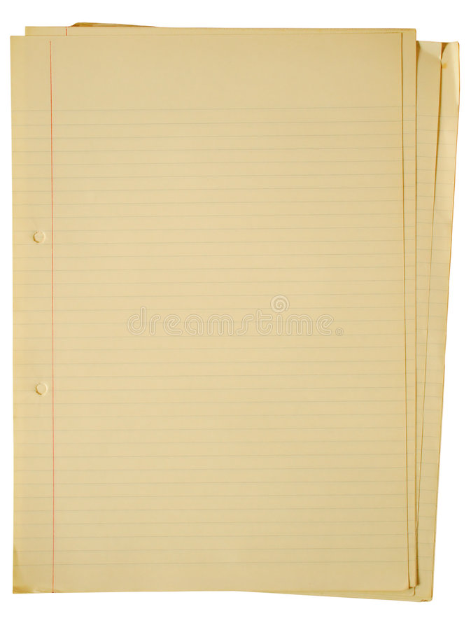 a4 παλαιό κιτρίνισμα εγγράφου στοκ φωτογραφία με δικαίωμα ελεύθερης χρήσης