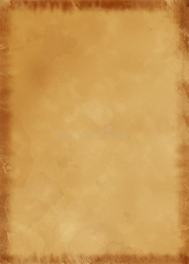 A4 de Oude Achtergrond van het Document van het Perkament royalty-vrije illustratie