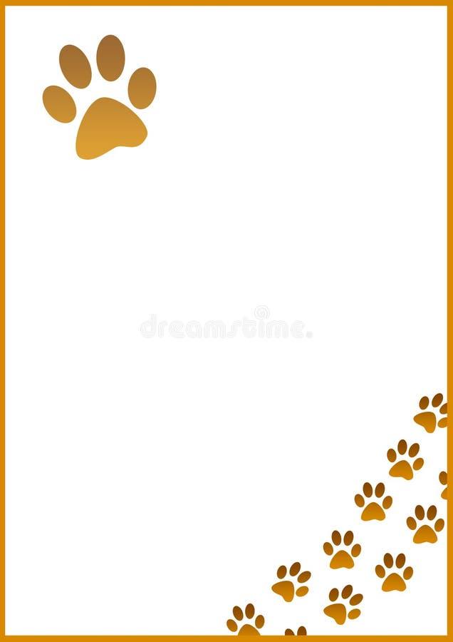 A4 Dog Footprint Stock Photo