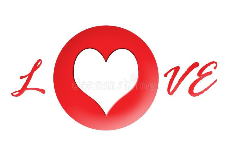 A4 horizontale rote Liebe Photofr stock abbildung