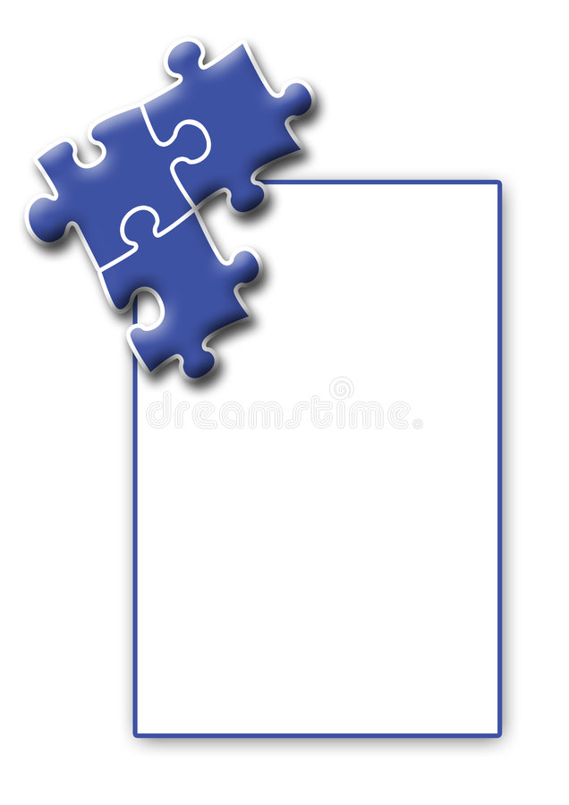A4 Layout - Puzzle vector illustration