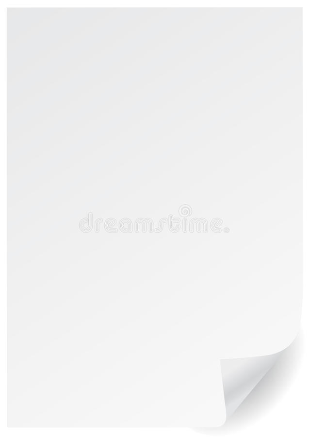 Free A4 White Page With Corner Royalty Free Stock Photo - 10598115
