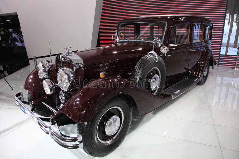 A851 klassieke limousine AUDI Horch stock afbeelding