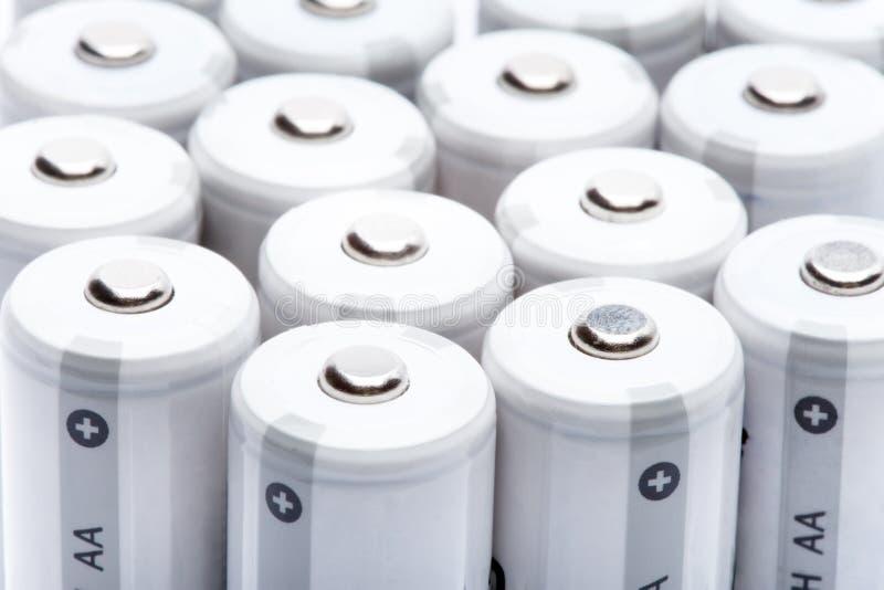 aa电池手指范围类型 免版税库存照片