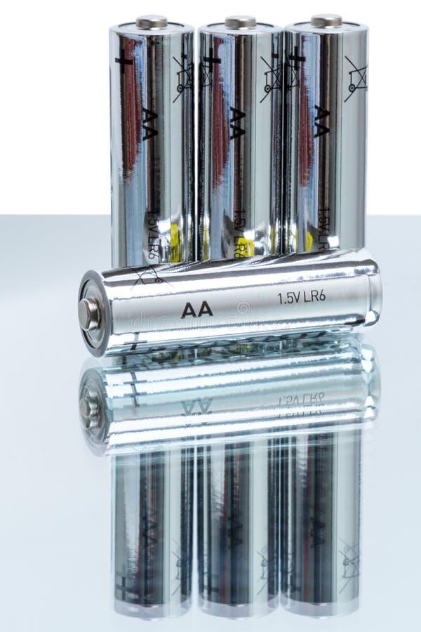 AA碱性电池LR6 库存图片