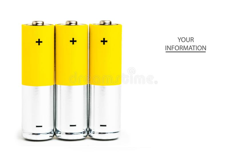 AA alkaline batteries on white background royalty free stock images