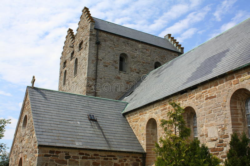 Aa Church. Bornholm. Aa Church (Aakirkeby) from 1150 on the Danish island Bornholm stock image