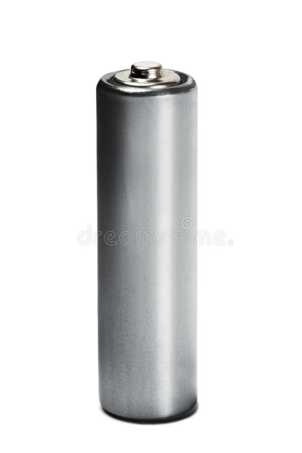 AA size batteries on white isolated background. Concept of renewable energy and sources of electrical power. Pattern for designer. Of environmental power stock image