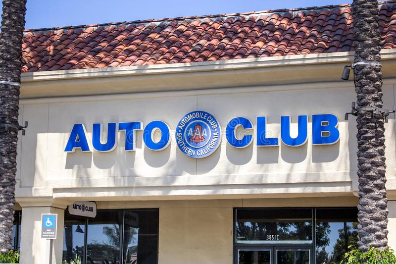 AAA Auto Club sign stock photography