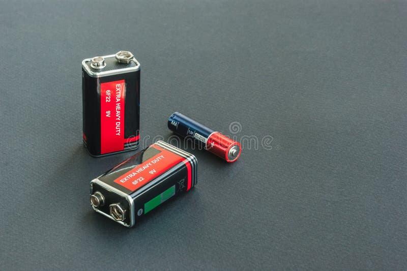 AAA PP3电池 库存图片