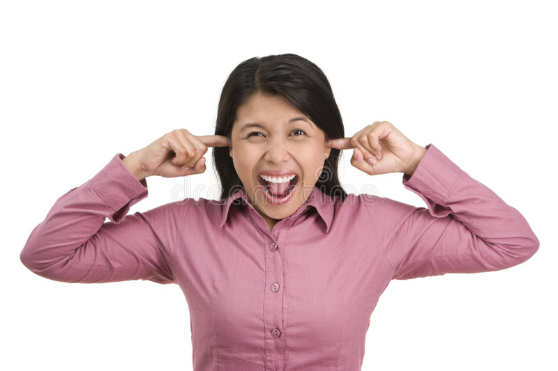 Download Aaargh.. so noisy stock image. Image of annoyed, shouting - 6333621