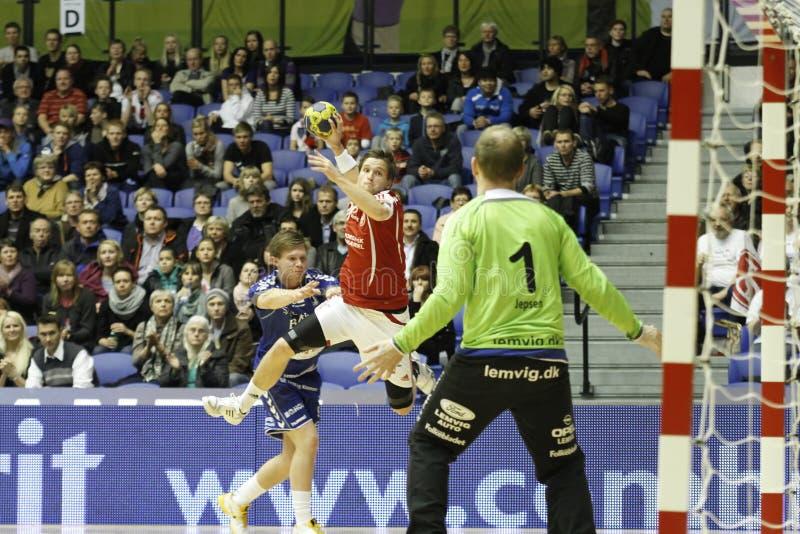 AaB Handball - Lemvig-Thyborøn Handball stockfotografie