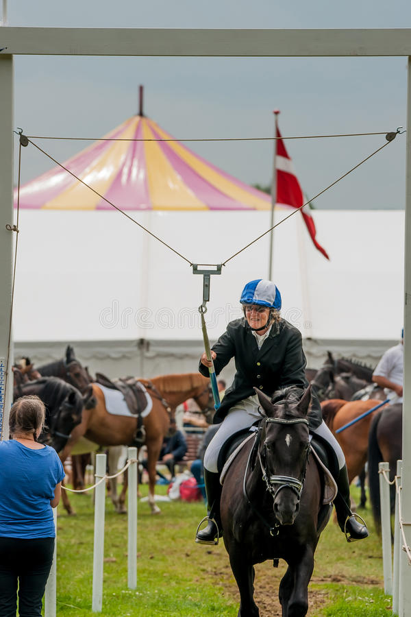 AABENRAA, DENMARK - JULY 6 - 2014: Participating riders in a par royalty free stock image